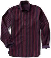Visconti Stripe Jacquard Long-Sleeve Woven Shirt
