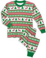 Sara's Prints Unisex Fair IslePrint Holiday Pajama Set - Little Kid