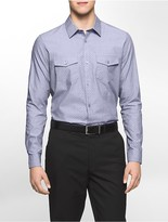 Calvin Klein Infinite Cool Slim Fit Patch Pocket Dobby Shirt