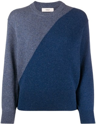 Pringle Two-Tone Blouson-Sleeved Sweater