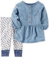 Carter's 2-Pc. Chambray Tunic and Leggings Set, Baby Girls (0-24 months)