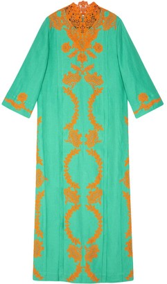 Gucci Long Lace Kaftan Dress