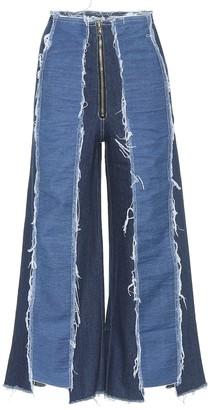 REJINA PYO Bella panelled wide-leg jeans