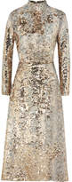 Emilia Wickstead Roma Sequined Midi Dress - Gold