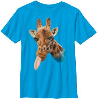 Fifth Sun Boys' Tee Shirts TURQ - Turquoise Silly Giraffe Tee - Boys