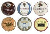 Bia Cordon Blue Cordon Bleu Set of 6 Wine Country Appetizer Plates