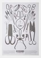 POSTALCO Scissors Print Paper White Size: One Size