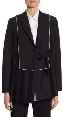 Jil Sander Wool-Mohair Pleated Jacket
