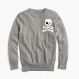 J.Crew Boys' cotton-cashmere skull sweater