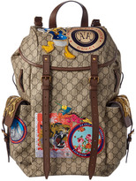 Gucci Gg Supreme Canvas Donald Duck Applique Backpack