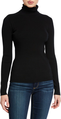 Tory Burch Ribbed Tech Stretch Turtleneck Sweater