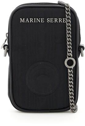 Marine Serre Logo Plaque Camera Crossbody Bag
