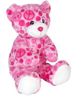 Teddy Mountain Pink Peace Bear