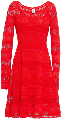 M Missoni Pointelle-knit Cotton-blend Mini Dress