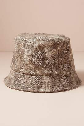 Helene Berman Snake-Print Bucket Hat