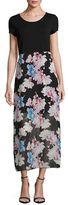 Vince Camuto Poetic Chiffon-Combo Maxi Dress
