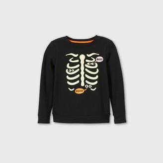 Cat & Jack Girls' Spooky Skeleton Pullover Sweatshirt - Cat & JackTM