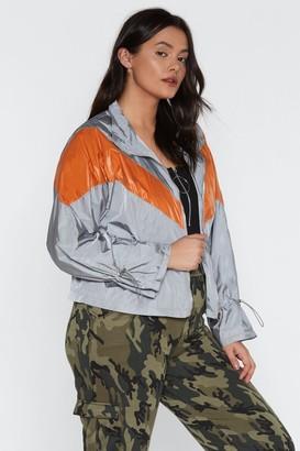 Nasty Gal Womens She'S Like The Windbreaker Jacket - Grey - 6, Grey