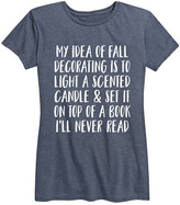IDEA Instant Message Women's Women's Tee Shirts HEATHER - Heather Blue 'My of Fall Decorating' Relaxed-Fit Tee - Women