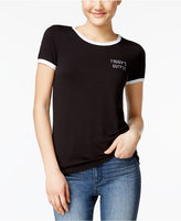 Miss Chievous Juniors' Sassy Graphic Ringer T-Shirt