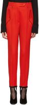 Nina Ricci Red Stirrup Trousers