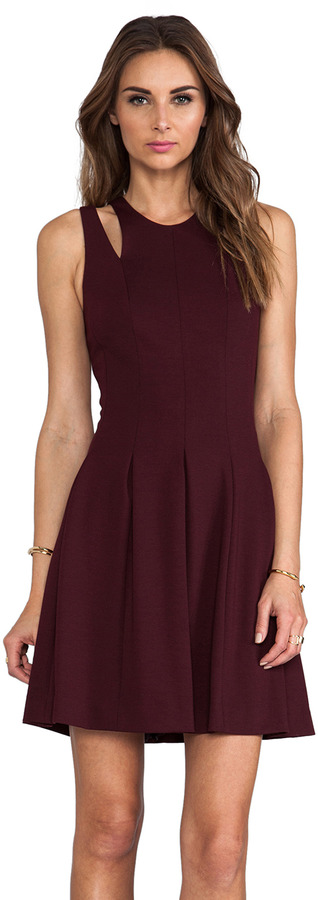 Rebecca Taylor RUNWAY Ponte Cut Out Dress