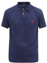 Polo Ralph Lauren - Custom Slim Fit Logo Embroidered Cotton Polo Shirt - Mens - Navy
