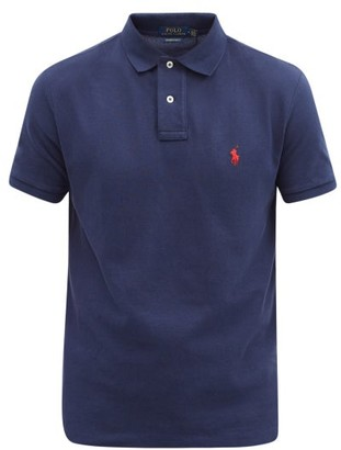 Polo Ralph Lauren Custom Slim-fit Logo-embroidered Cotton Polo Shirt - Navy