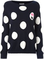 Chinti and Parker polka dot emoji sweater