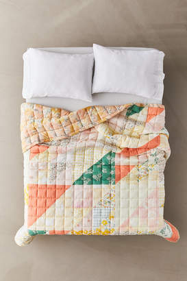 Urban Outfitters Floral Tie-Dye Reversible Quilt