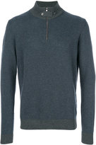Hackett zipped neck jumper