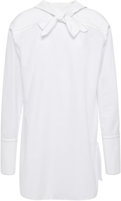 Marni Lily Knotted Cotton-poplin Shirt