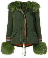 Alessandra Chamonix parka jacket with fur trim