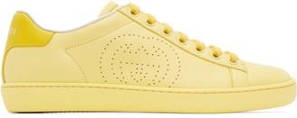 Gucci Yellow Interlocking G New Ace Sneakers