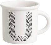 Letter U Porcelain Mug