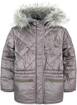 3 Pommes Faux fur-lined padded coat