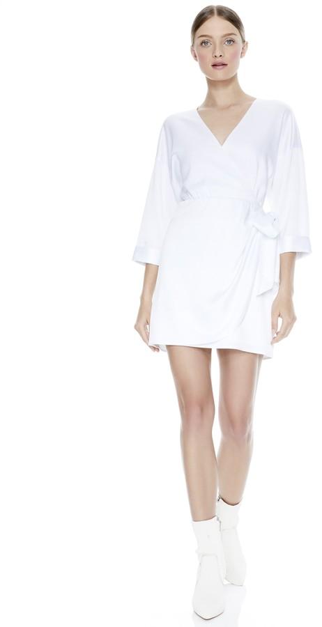 Alice + Olivia Ophelia Tie Waist Mini Dress