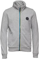 Bench Boys Zip Up Funnel Sweatshirt Grey Marl