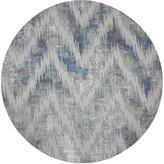 "N. Nicolette Mayer Chevron 16"" Round Pebble Placemats, Set of 4"