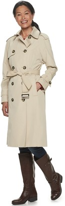 London Fog Women's TOWER by Double-Breasted Trench Coat