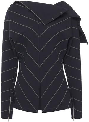 3.1 Phillip Lim Draped Striped Jersey Top