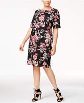 Karen Scott Plus Size Floral-Print Shift Dress, Created for Macy's