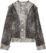 Christopher Kane Frayed metallic wool-blend bouclé-tweed jacket