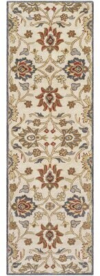 Runner Camden Floral Handmade Tufted Wool Rust Area Rug Charlton Home