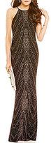 Jump Glitter Chandelier Pattern Long Dress