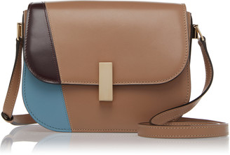 Valextra Iside Color-Blocked Leather Satchel Bag