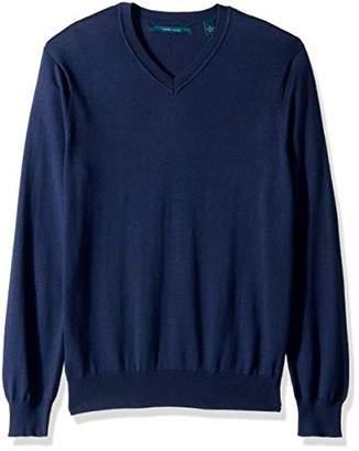 Perry Ellis Men's Solid V-Neck Sweater
