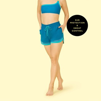 Summersalt The Beyond the Lounge Chair Short - Pacific & Blue Lagoon