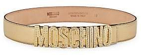 Moschino Women's Crystal-Embellished Logo Belt