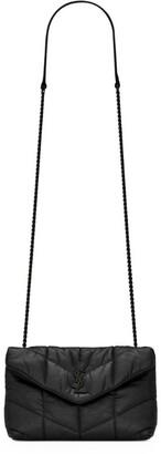 Saint Laurent Mini Leather Loulou Puffer Cross-Body Bag